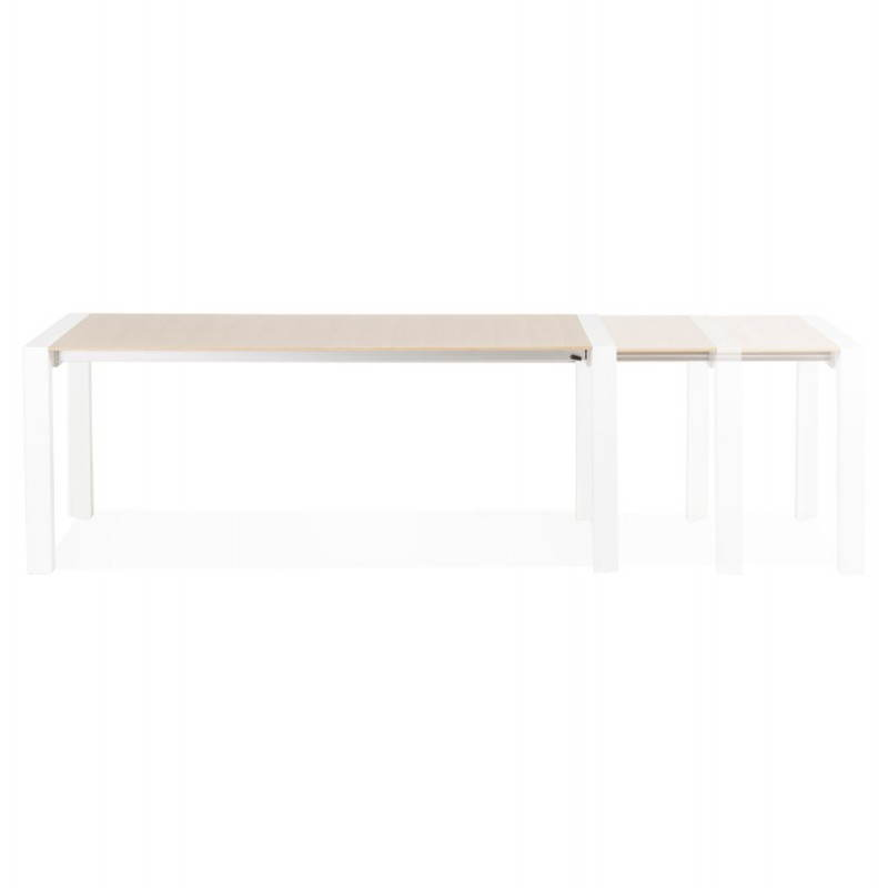 Rectangular design table with extensions SOLO veneered oak and metal (natural wood) - image 21419