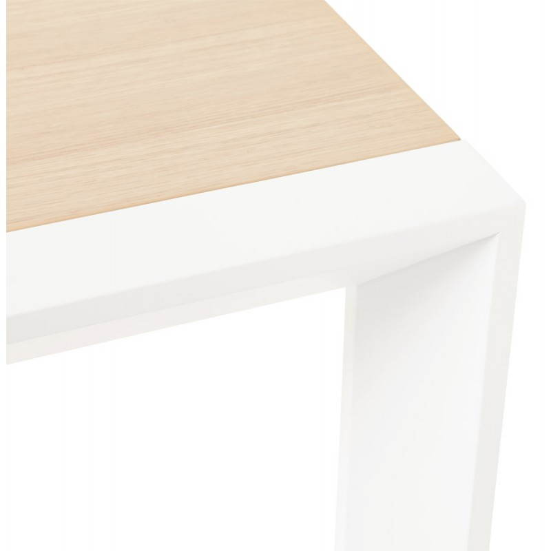 Rectangular design table with extensions SOLO veneered oak and metal (natural wood) - image 21420