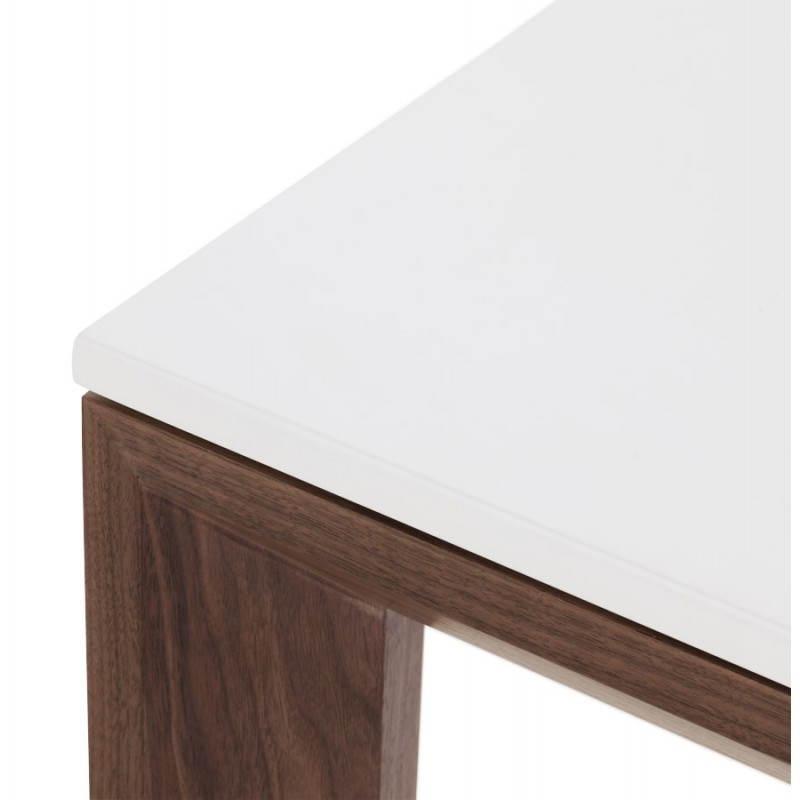 Table design rectangulaire avec rallonge LOULOU en bois (150/200cmX90cmX75cm) (blanc) - image 21443