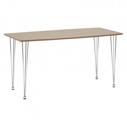 Wood (Walnut) rectangular design table SOPHIE