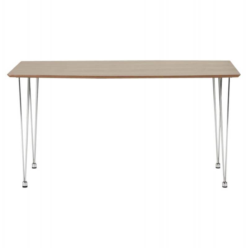 Table design rectangulaire SOPHIE en bois (140cmX70cmX72cm) (noyer) - image 21469
