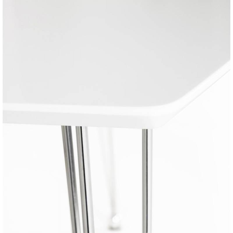 Table design rectangulaire SOPHIE en bois (140cmX70cmX72cm) (blanc) - image 21487