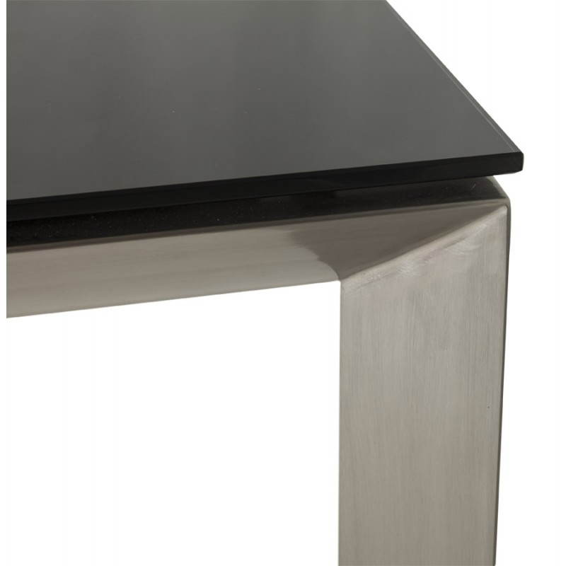 Table design rectangulaire avec rallonge mona en verre for Table a manger extensible design