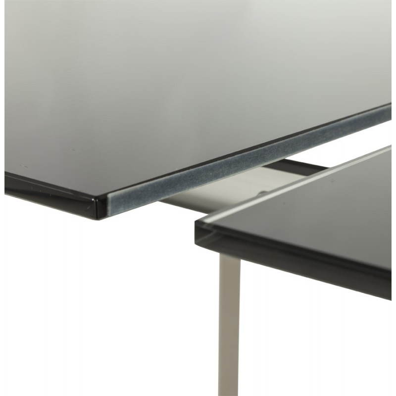 20170408175124 table rectangulaire en verre avec rallonge derni res id es pour la. Black Bedroom Furniture Sets. Home Design Ideas