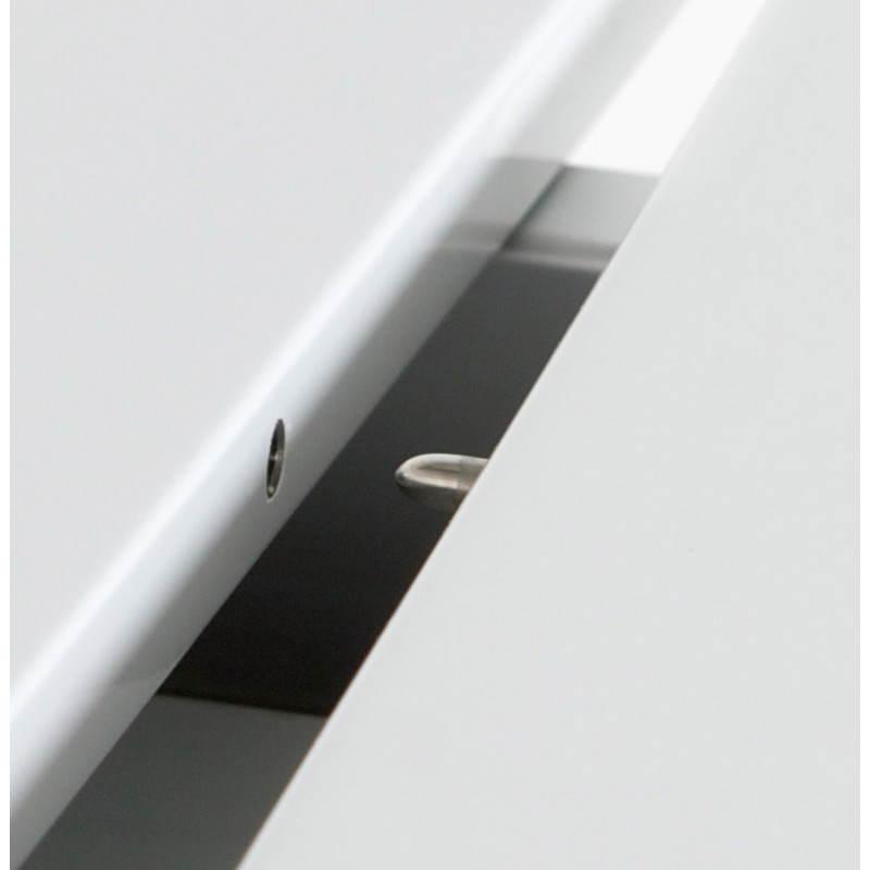 Table design avec rallonge FIONA en bois laqué et aluminium brossé (190/270cmX95cmX75cm) (blanc) - image 21534