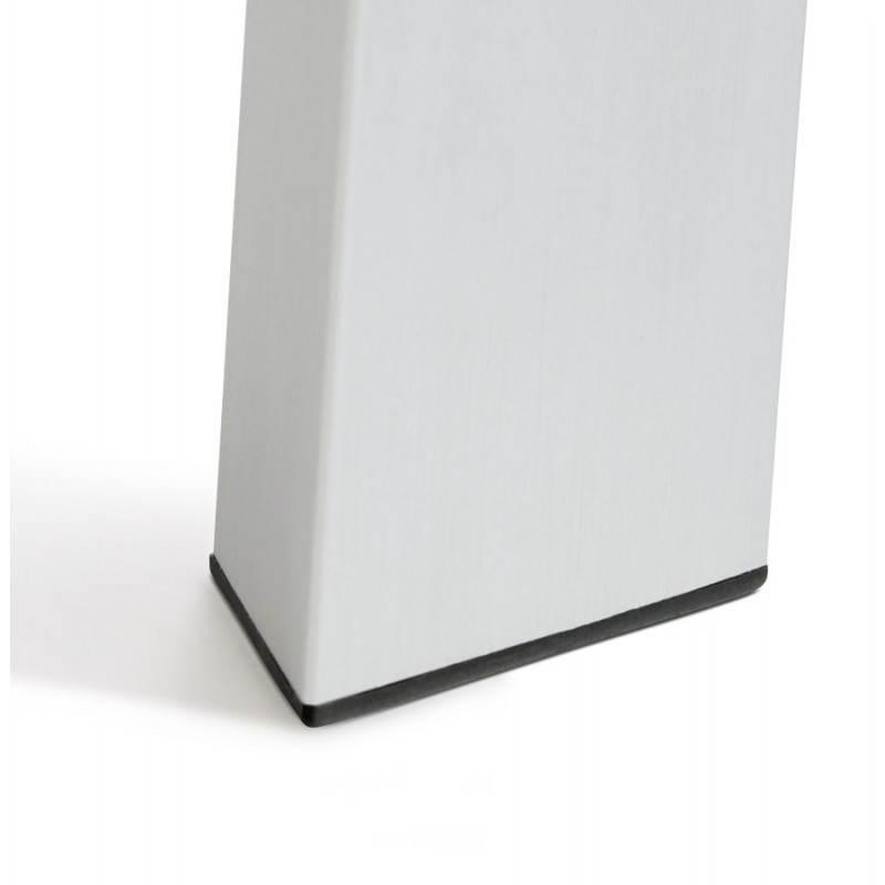 Table design avec rallonge FIONA en bois laqué et aluminium brossé (190/270cmX95cmX75cm) (blanc) - image 21536