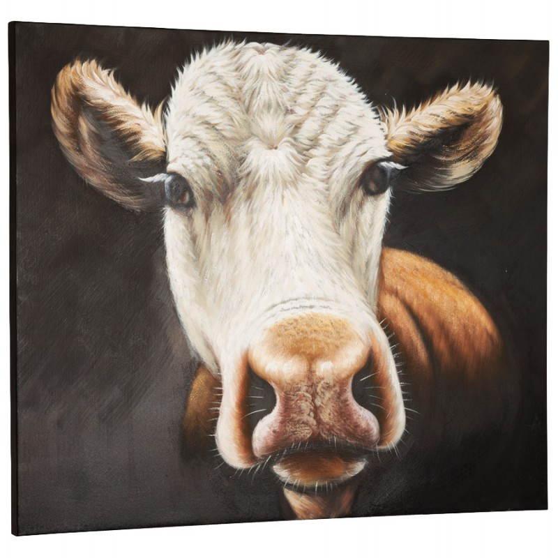 Decorative canvas cow  - image 21635