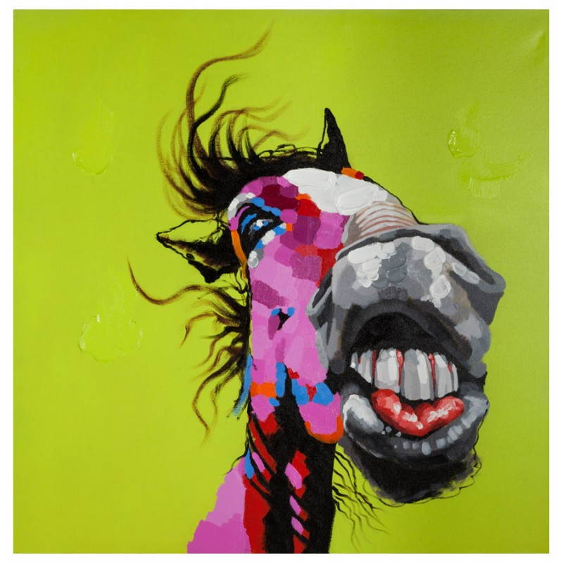 Decorative canvas horse  - image 21646