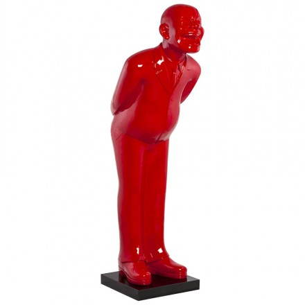 Statue form groom VALET fiberglass (painted red)