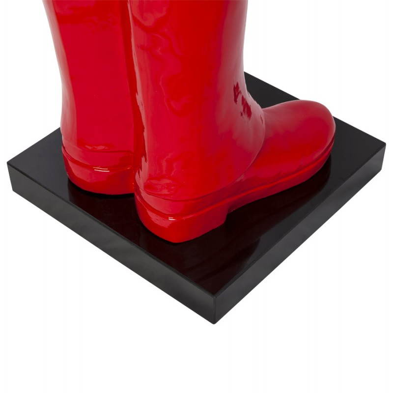 Statue forme groom VALET en fibre de verre (rouge laqué) - image 21662