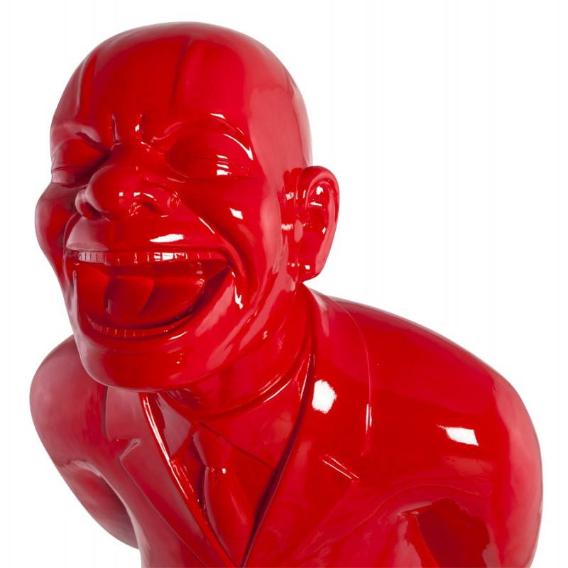 Statue forme groom VALET en fibre de verre (rouge laqué) - image 21665