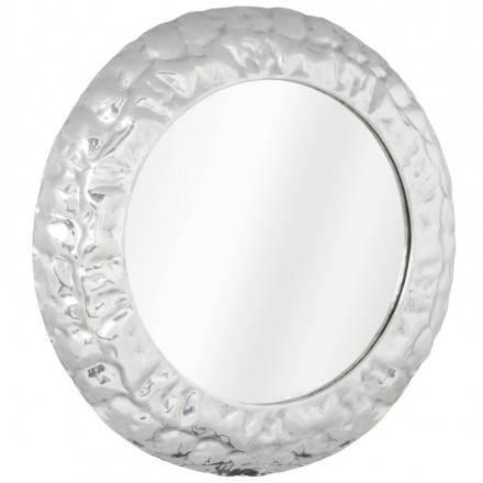 Round wall mirror BELLA aluminium