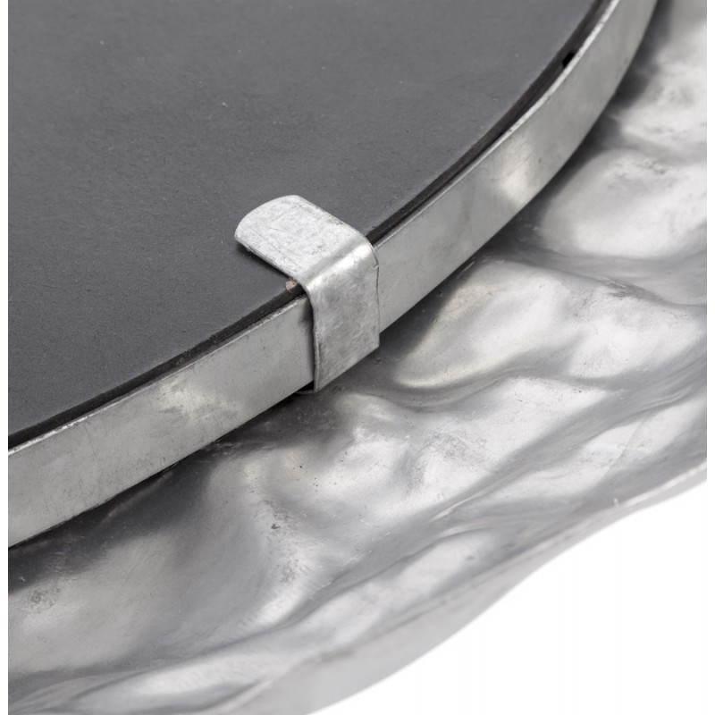 Specchio da parete rotondo in alluminio BELLA  - image 21771