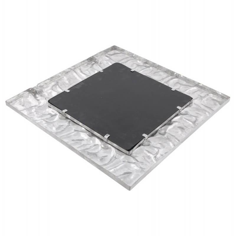 Square wall mirror BELLISSIMA aluminium  - image 21778