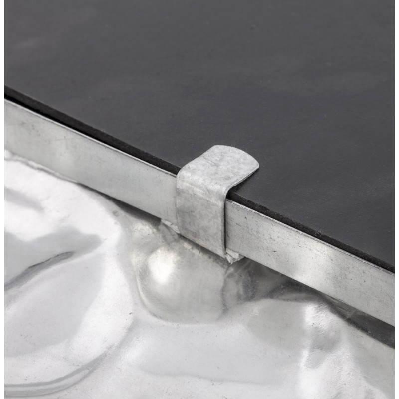 Square wall mirror BELLISSIMA aluminium  - image 21780
