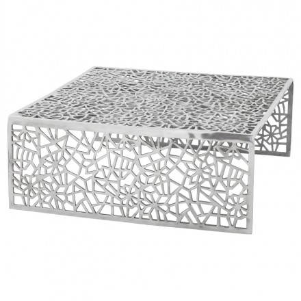 Coffee table square LADY in aluminium