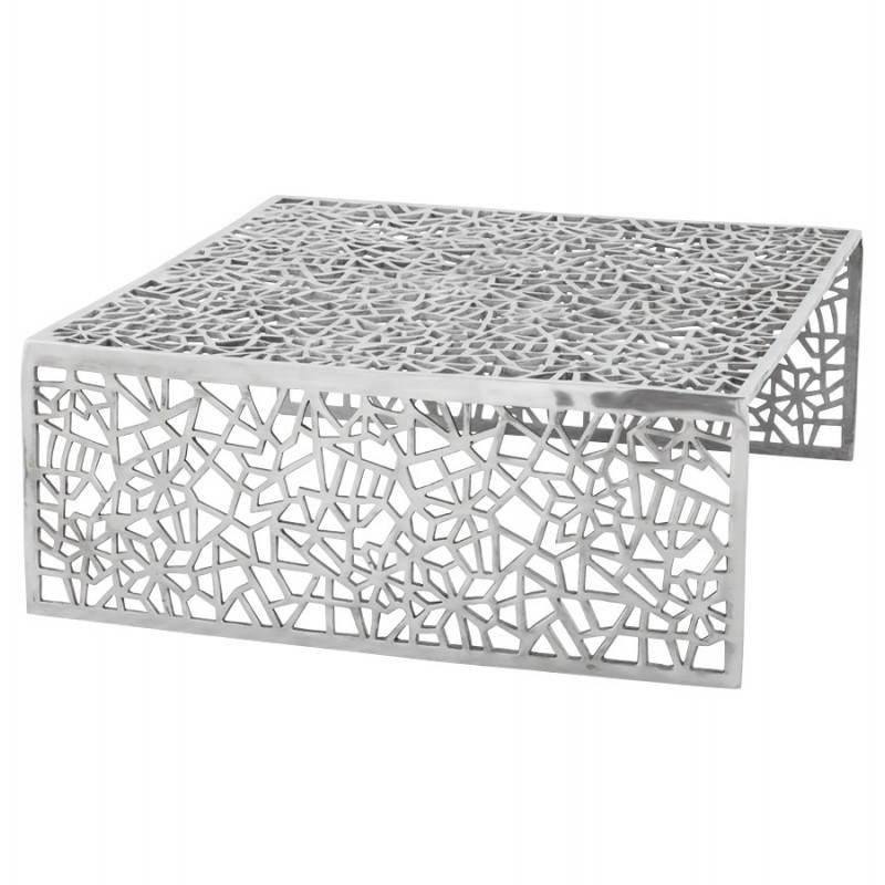 Mesa de centro cuadrada dama en aluminio  - image 21782