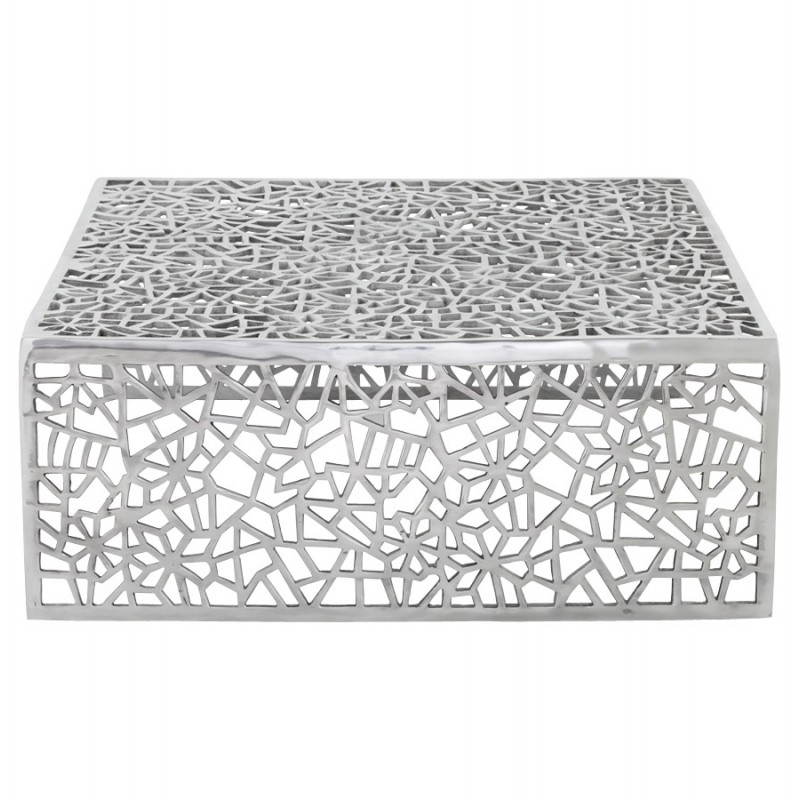 Mesa de centro cuadrada dama en aluminio  - image 21783