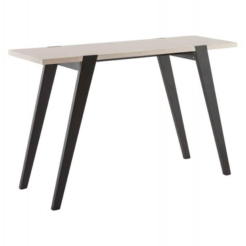 Table moderne rectangulaire VANOU en plaqué chêne (120cmX75,5cmX40cm) (naturel) - image 21790