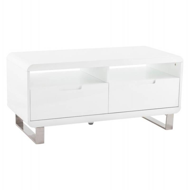 Meuble TV LIFOU en bois laqué (blanc) - image 21904