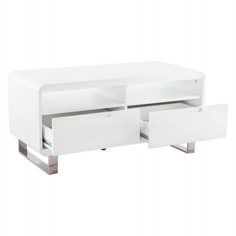 Meuble TV LIFOU en bois laqué (blanc) - image 21907