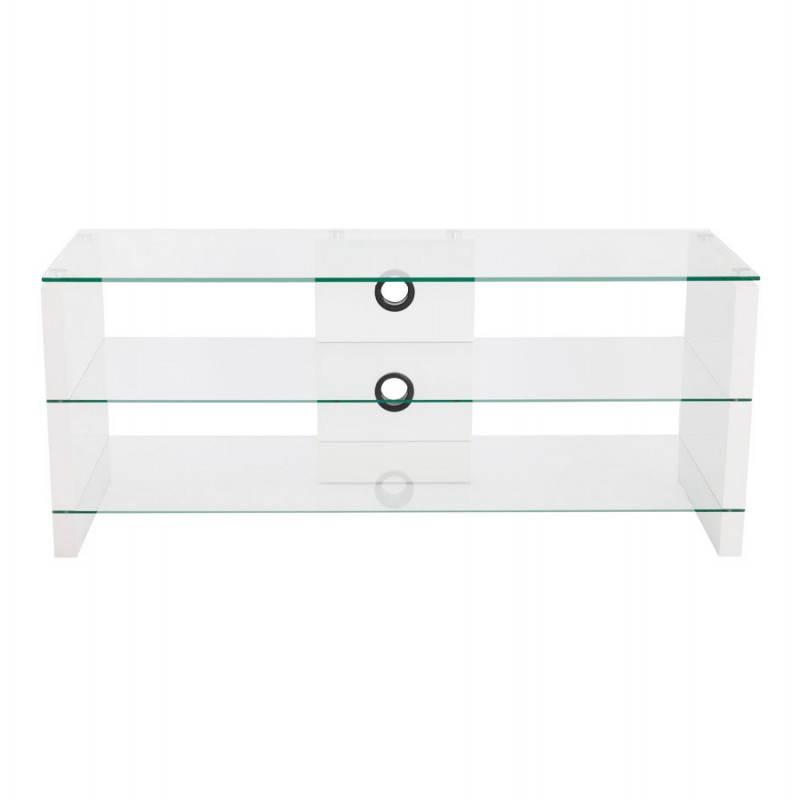 Muebles TV OUVÉA en madera lacada y de cristal (blanco) - image 21916