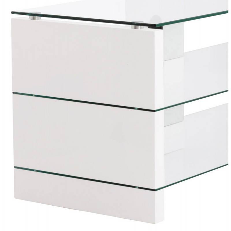 Muebles TV OUVÉA en madera lacada y de cristal (blanco) - image 21917