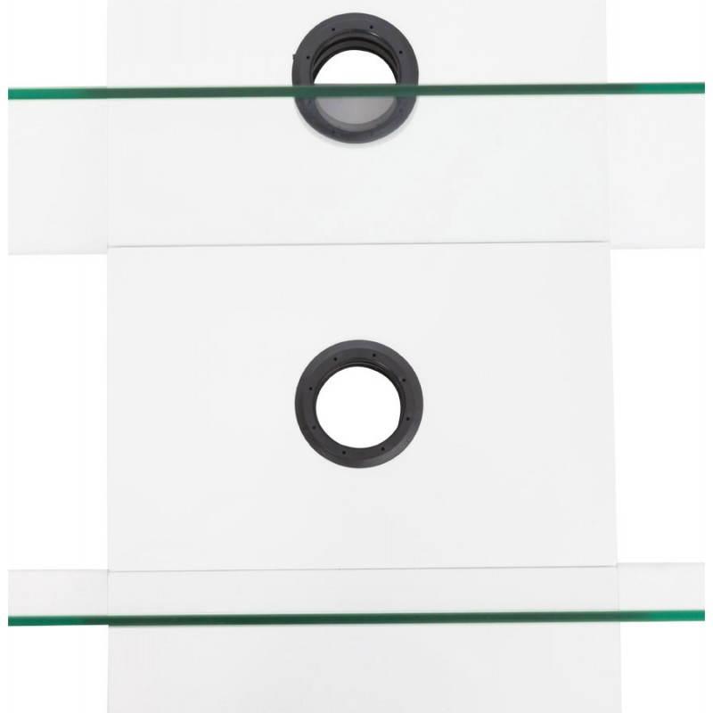 Muebles TV OUVÉA en madera lacada y de cristal (blanco) - image 21920