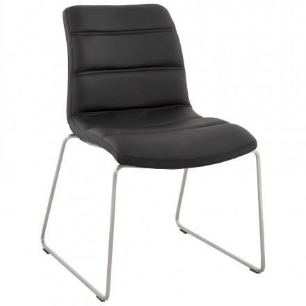 Chaise design et moderne rembourrée FRAISE (noir)