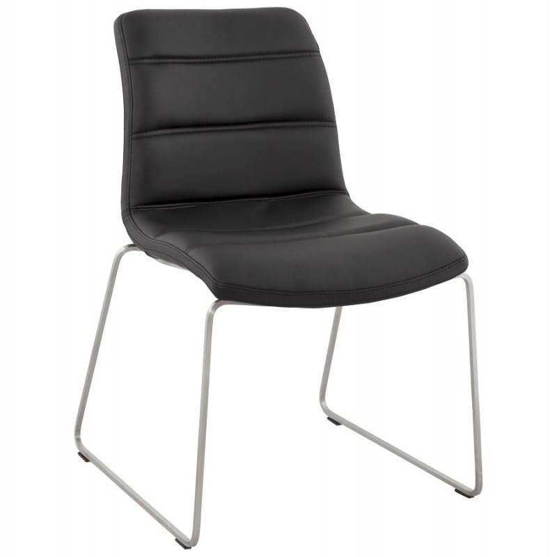 Design Und Moderner Stuhl Gepolstert Fraise Schwarz