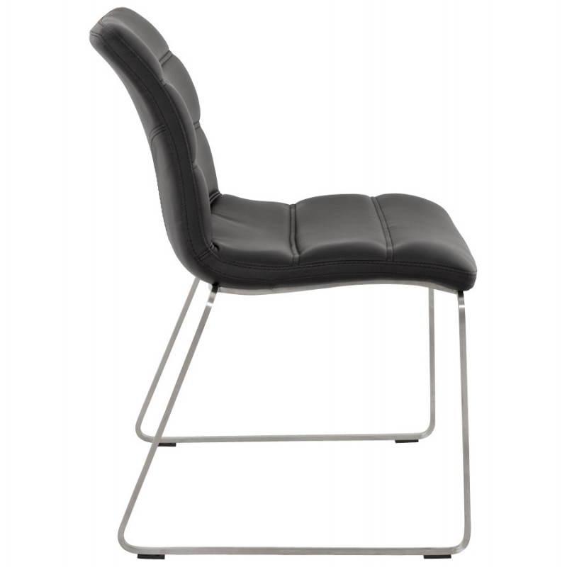 chaise design et moderne rembourr e fraise noir. Black Bedroom Furniture Sets. Home Design Ideas