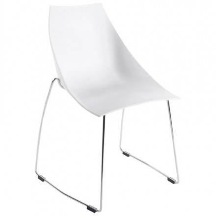 Chaise design et moderne RAME en polymère (blanc)
