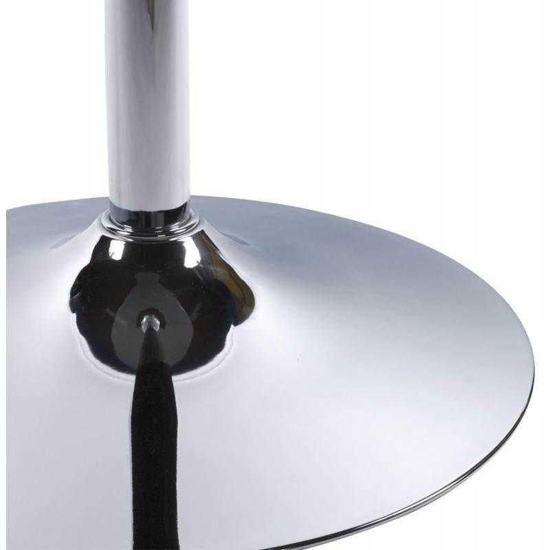 Table haute d'appoint BARY en verre et métal chromé (Ø 65 cm) (blanc) - image 22073