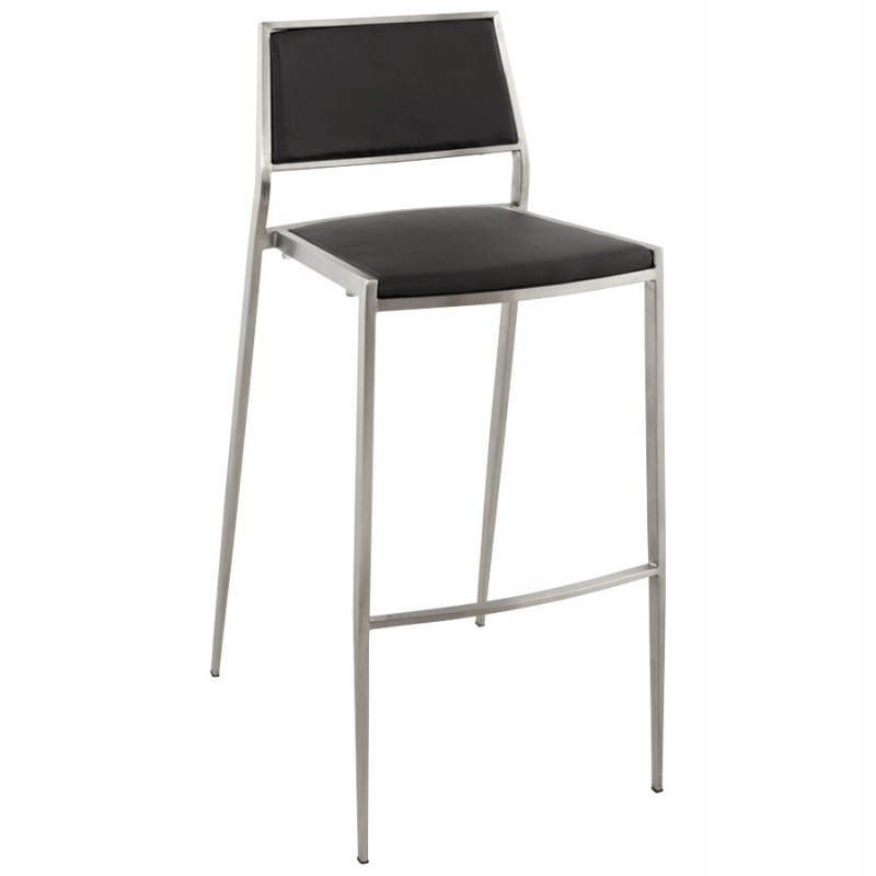 Tabouret de bar design et empilable SABRY (noir) - image 22084