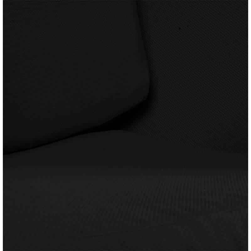Fauteuil design OVALO en polymère et tissu (blanc et noir) - image 22156