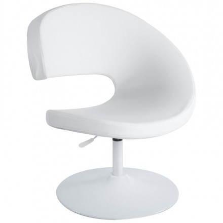 Design Sessel zeitgenössische ROMANE in poliuretano und lackiertem Stahl (weiß)