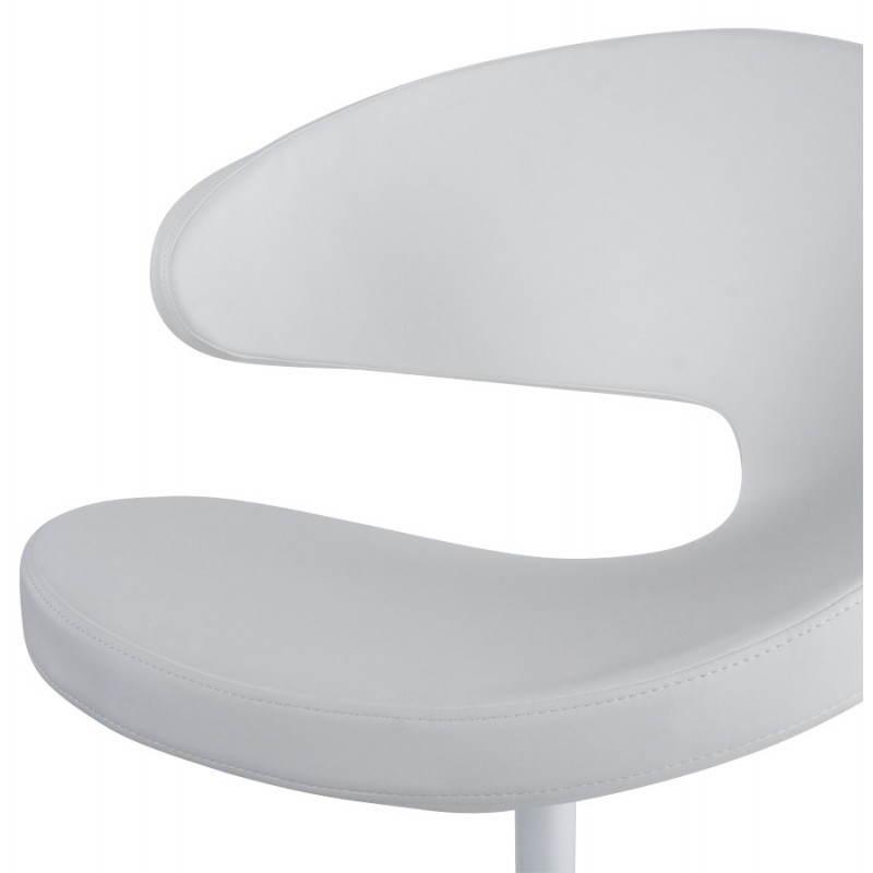 Fauteuil design et contemporain ROMANE en polyuréthane et acier peint (blanc) - image 22166