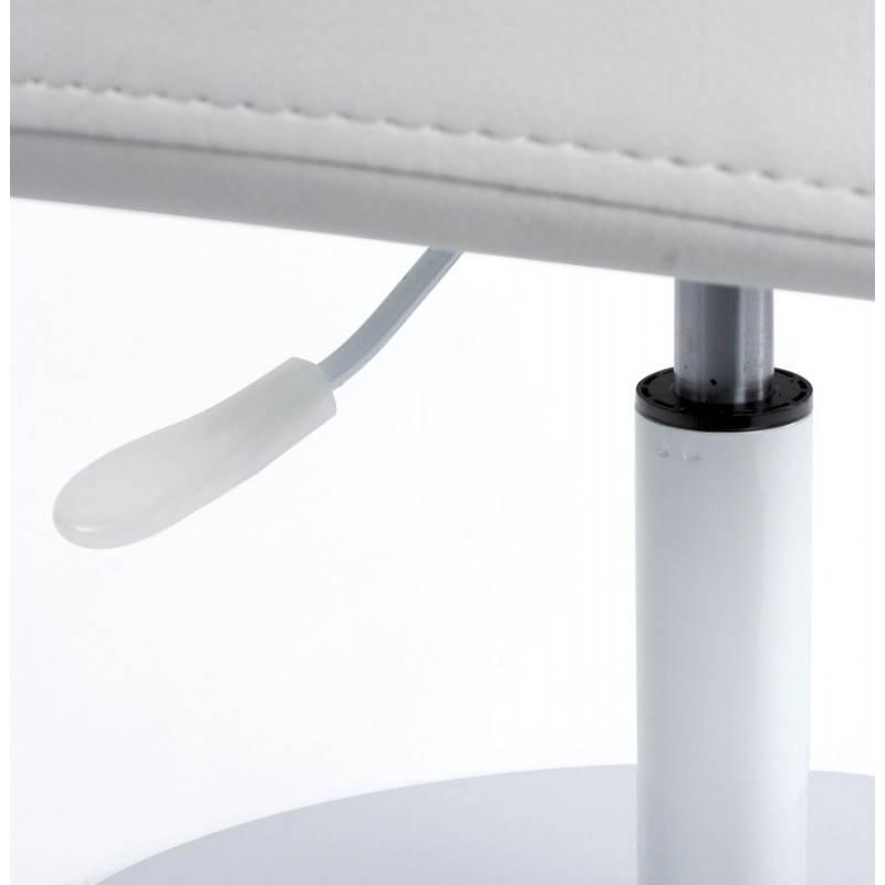 Fauteuil design et contemporain ROMANE en polyuréthane et acier peint (blanc) - image 22168