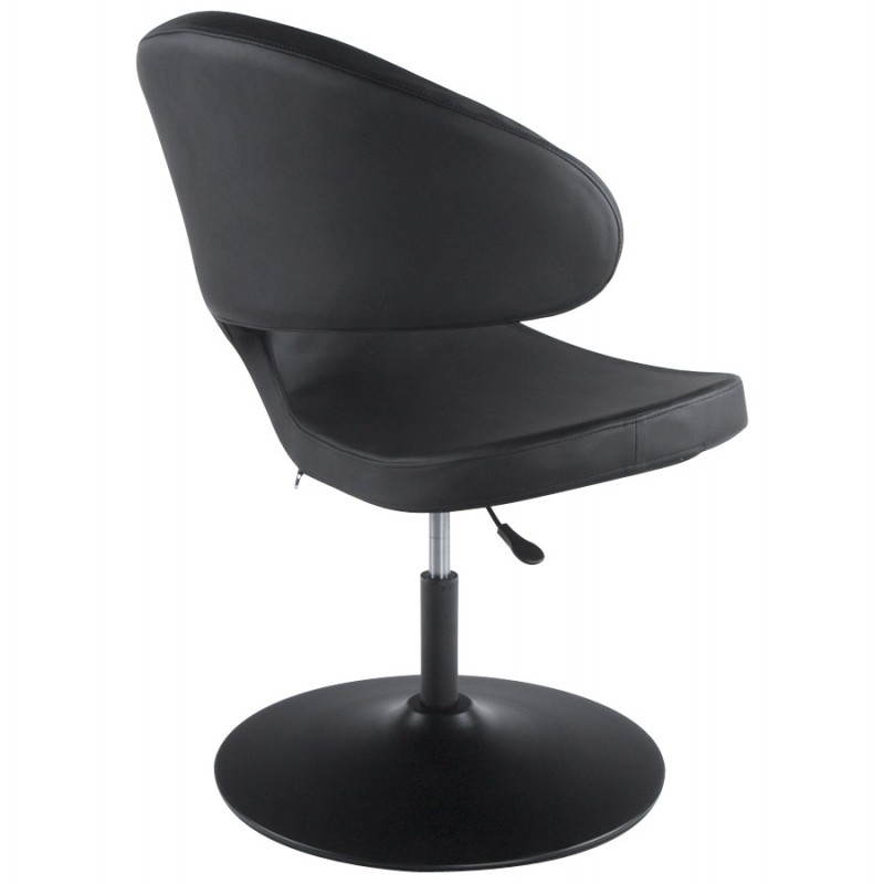 Fauteuil design et contemporain ROMANE en polyuréthane et acier peint (noir) - image 22173