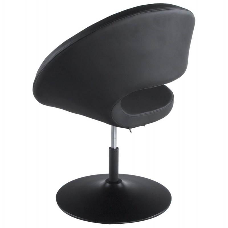 Fauteuil design et contemporain ROMANE en polyuréthane et acier peint (noir) - image 22174