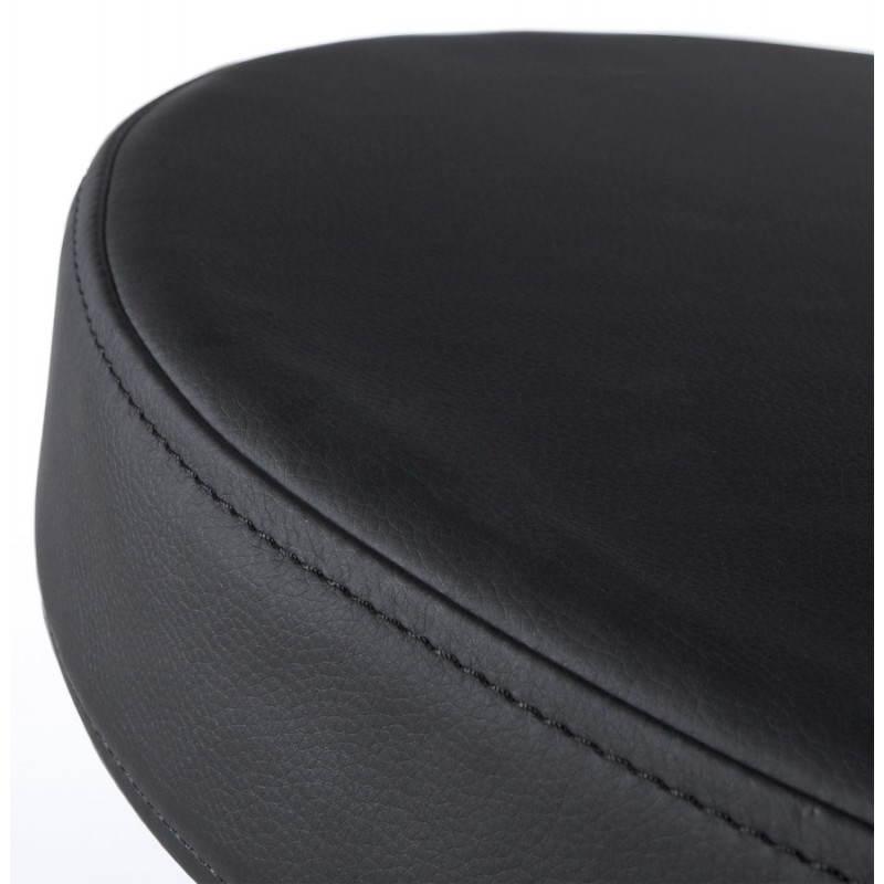 Fauteuil design et contemporain ROMANE en polyuréthane et acier peint (noir) - image 22178