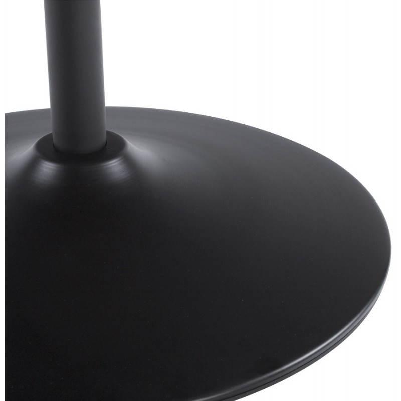 Fauteuil design et contemporain ROMANE en polyuréthane et acier peint (noir) - image 22180