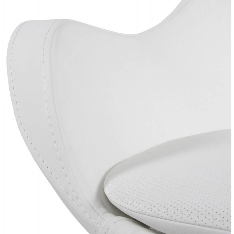 Design armchair contemporary love in synthetic and brushed aluminum (white) - image 22185