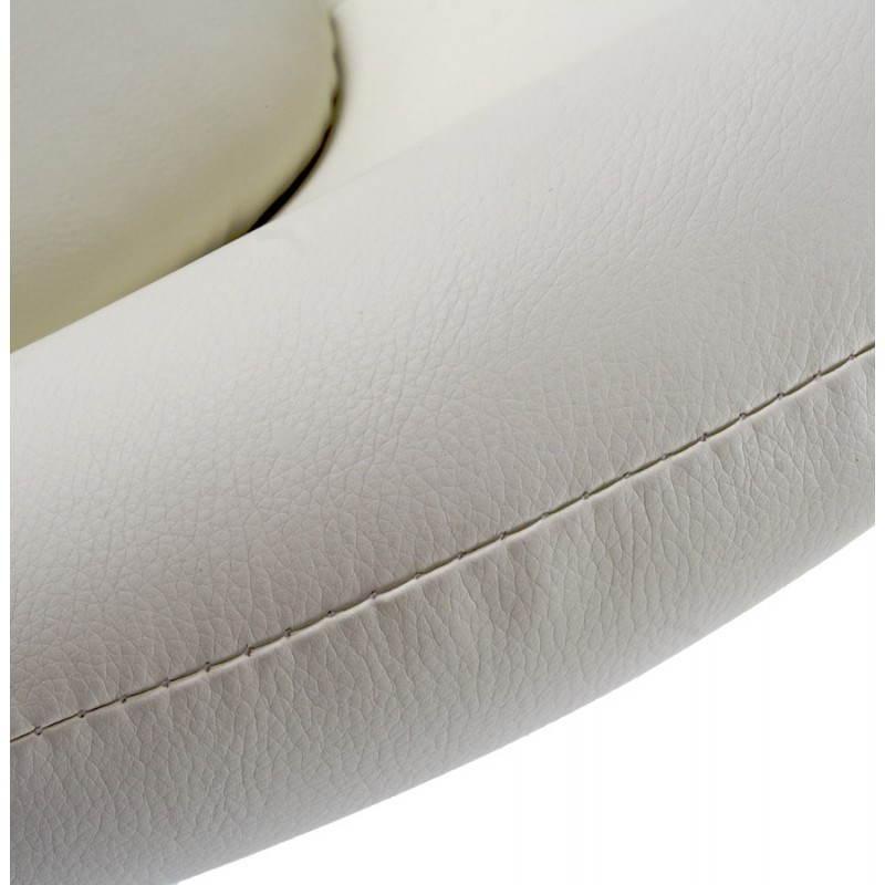 Fauteuil design et contemporain JAMES pivotant (crème) - image 22203