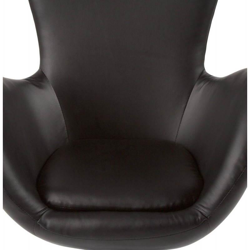 Fauteuil design et contemporain JAMES pivotant (noir) - image 22207