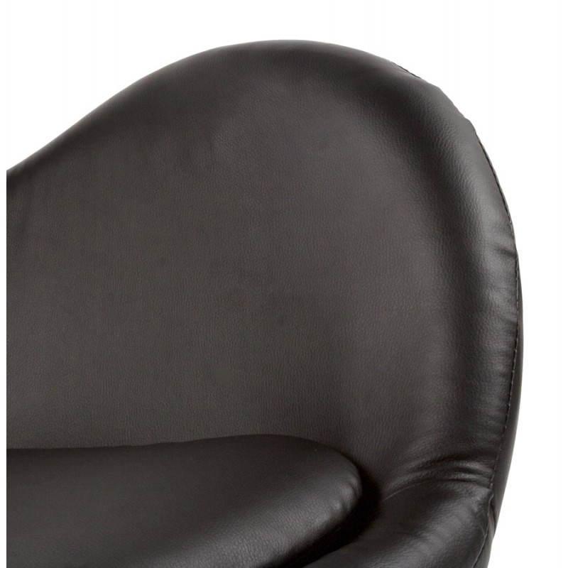 Fauteuil design et contemporain JAMES pivotant (noir) - image 22209