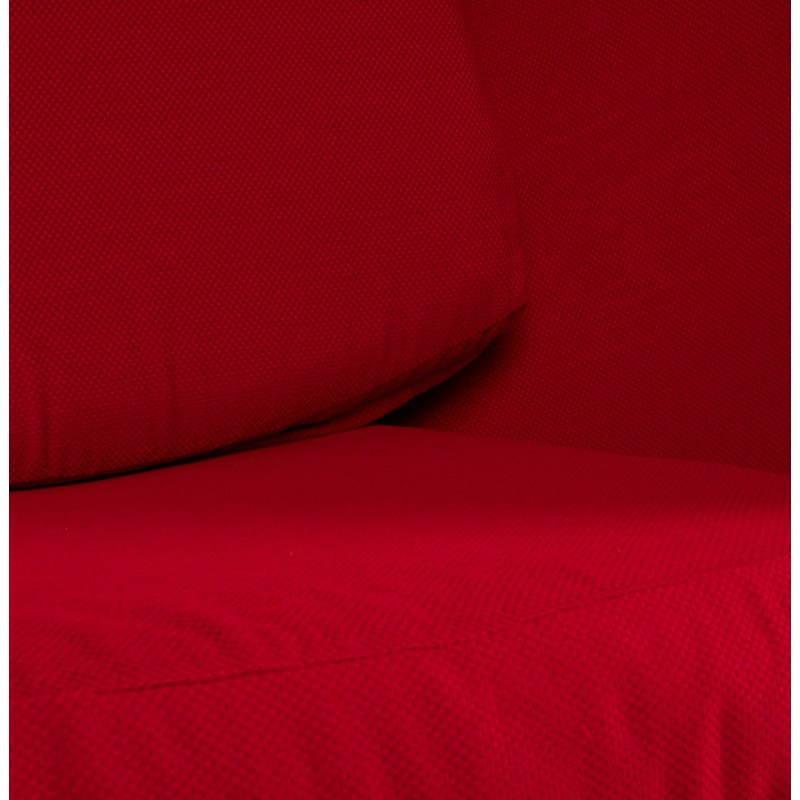 Fauteuil design OVALO en polymère et tissu (noir et rouge) - image 22223