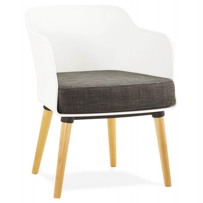 Fauteuil MAXIME en textile style scandinave (gris foncé) - image 22270