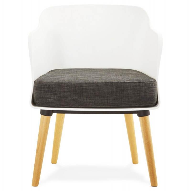 Fauteuil MAXIME en textile style scandinave (gris foncé) - image 22271