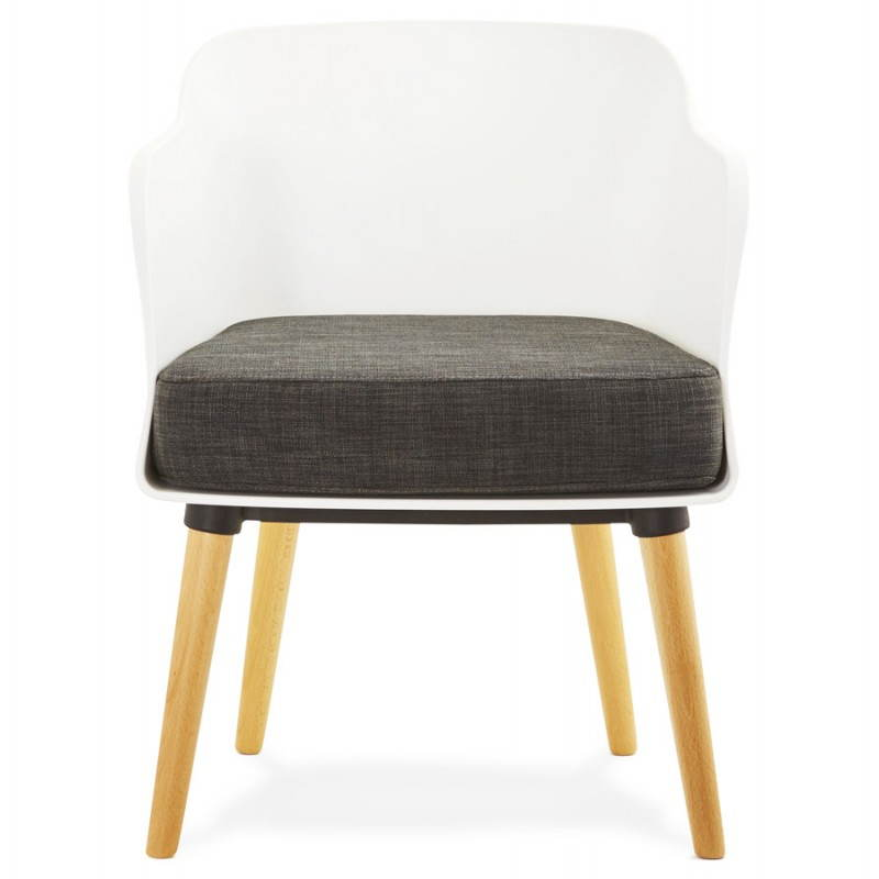Textile armchair MAXIME style Scandinavian (dark grey) - image 22271
